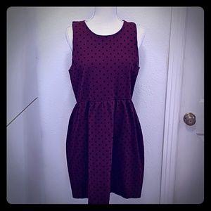 J. Crew Ponte Dress in Velvet Dot - Size Large
